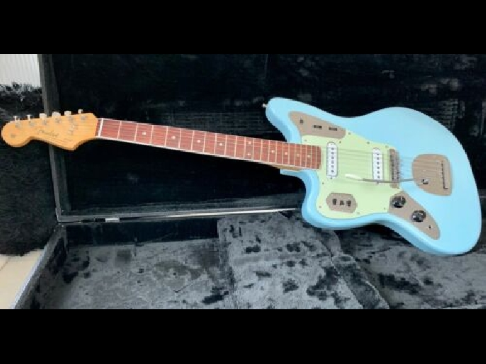 Fender Jaguar US Sonic Blue LH Lefty Left Handed Gaucher