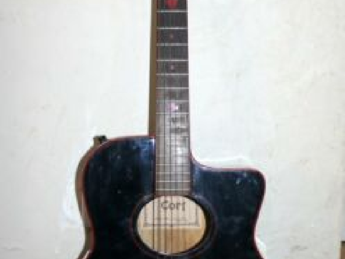 Cort Guitare electro acoustique model 232 EBK Bridge Shadow Installed