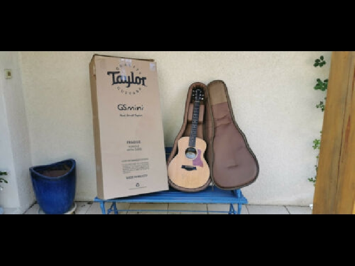 Taylor GS Mini guitar signed by Ben Harper