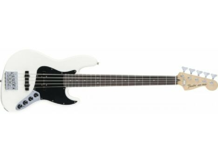 Fender Deluxe Active Jazz Bass V - 5 cordes - touche Pau Ferro - Olympic White