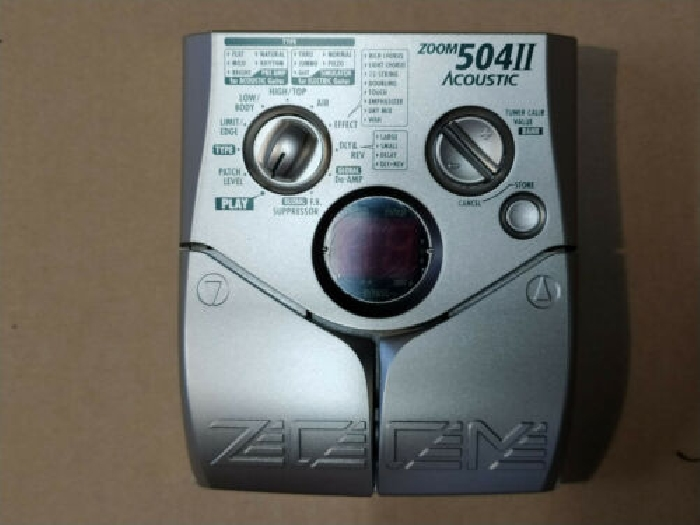 ZOOM 504 II Acoustic  pédale Multi effet Vintage  Made in JAPAN