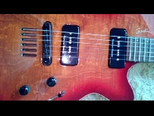 Godin Lg 90 Sp90 Cherry Burst Flamme With Bag
