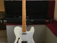 Guitare Fender Telecaster USA thinline 69 2S Olympic white