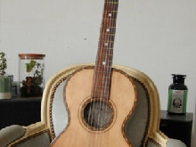 Circa 1900 Merrill-Barrows Aluminium Back Parlour Guitar