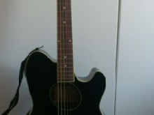 GUITARE IBANEZ TCY10E TALMAN NOIR ÉLECTRO ACOUSTIQUE+CASE/SANGLE/CAPO/BOOK.