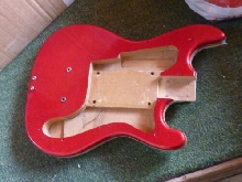 Eko Bass Body Made In Italy 1960's Vintage RED SPARKLE