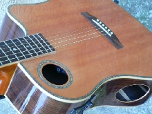 BOULDER CREEK ECGD-2N electro acoustique guitare +Etui fly (Thomann) Bois massif
