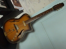 Di Mauro E2 électrique archtop guitar from 1960's, Made In France