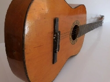 Guitare classique HSINGHA bois vintage art déco collection made in China N4111