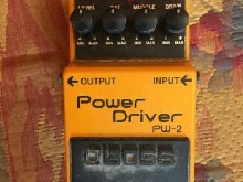 Pédale Boss PW-2 distortion / overdrive jaune