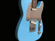 Daphne Blue Nitro Telecaster Guitar - Steel Custom - 4 Way switch with Hard Case