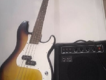 Bass Eagletone Sunburst + Ampli Bird