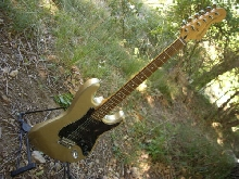 guitare Sqiuer 70ies standard stratocaster couleur gold !