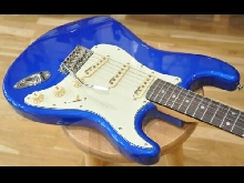 Vintage V6CAB Reissued V6 Candy Apple Blue V-6 Strat Type Guitar - New!