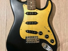 Custom Stratocaster Black Gold Anodized Pickguard With Neck/Bridge Blend Control