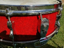 50's/ early 60's JOHN GREY Broadway Snare + Tom drums Red sparkle Charlie Watts