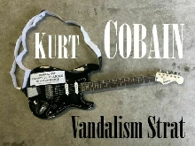 Kurt Cobain Vandalism Strat Fender Squier guitar Relic road worn **On command**