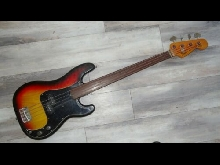 1976 Fender Precision Bass Fretless USA Sunburst