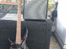 Basse Cort gaucher + ampli Fender Rumble 15