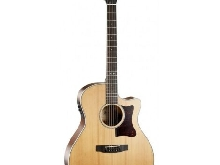 Cort Grand regal GA5F-BW naturelle satinée - Guitare électro-acoustique Grand A