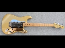 Guitare Electrique Fender Mexique Strat Special Edition Gold Sister