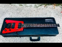 Guitare Hohner G2T rouge headless 1987