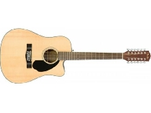 Fender CD-60SCE Dreadnought 12 cordes naturel - guitare électro-acoustique