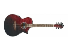 Ibanez AEWC32FM-RSF Red Sunset Fade brillante - Guitare électro acoustique