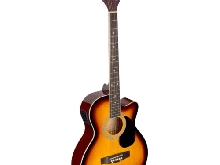 GUITARE ELECTRO ACCOUSTIQUE AUDITORIUM COULEUR SUNBURST PAN COUPE TABLE TILLEUL