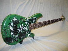 90's IBANEZ GREEN PUNKY BASS - made in JAPAN - EMGed
