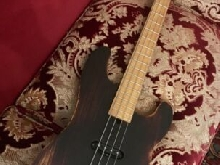 Basso artigianale Precision Bass ?51 Dusty Hill Red Wine Relic di TdS Liuteria