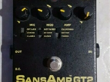 Tech21 SANSAMP GT2 pedale overdrive distortion