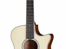 Guitare Folk Electro 3/4 de Voyage Crafter Castaway Ace Naturel + Housse