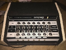 RARE AMPEG SR 6 SOLID STATE 120W MIXER BASS AMP MADE IN THE USA